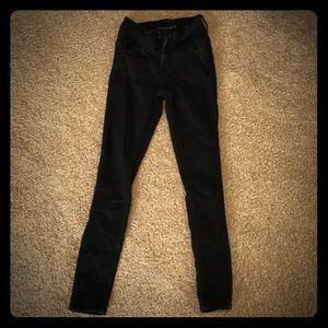 Hot Topic Blackheart Jeans, Black, sz 0, skinny